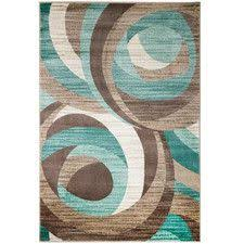 Chocolate Area Rug Nebula Rug In Beige Teal Blue And Brown Liked On Polyvore
