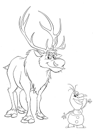 olaf coloring pages with sven coloringstar