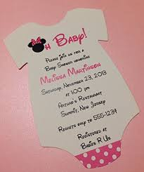 minnie mouse baby shower invitations set of 10 pink minnie mouse baby shower invitations