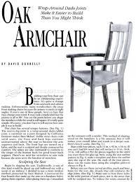 Oak Armchair Oak Armchair Plans U2022 Woodarchivist