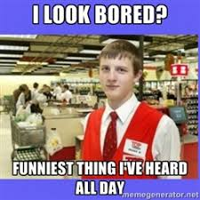 Grocery Meme - secretly angry grocery store employee meme generator grocery
