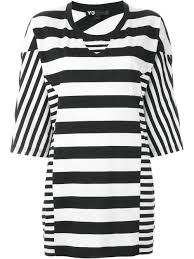 y 3 tops y 3 contrast stripe oversized t shirt women clothing t