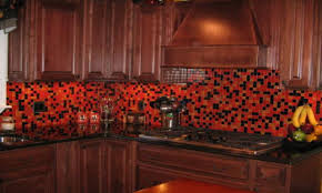 Glass Tile Kitchen Backsplash Designs Red Backsplash For Kitchen Backsplash Red Tile Design Design Ideas