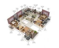 Floor Plans For Flats Best 25 4 Bedroom Apartments Ideas On Pinterest 3d House Plans