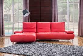 Modern Leather Sectional Sofa 941 Contemporary Red Italian Leather Sectional Sofa