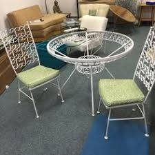 1960s Patio Furniture Vintage Mid Century Wrought Iron Patio Set Salterini Woodard Four