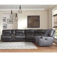 mccaskill 3 piece power reclining sectional in gray nebraska