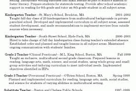 Kindergarten Teacher Resume Examples by Middle Teacher Resume Examples Teacher Resume Examples