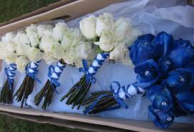 wedding flowers royal blue royal blue ivory and silver wedding decorations wedding royal