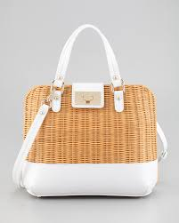 kate spade new york waverly terrace medium wicker satchel bag in