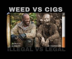 Cigarettes Meme - weed vs cigarettes walking dead spoof weed memes 420