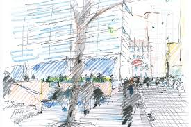 drawing for landscape architecture sketch to screen to site