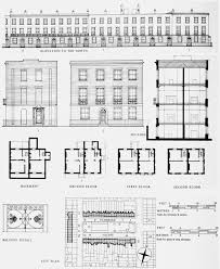 pembroke square 1823 u201335 site and house plans elevations