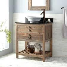 Bathroom Vanity Reclaimed Wood Vessel Sink Vanity Reclaimed Wood Console Vessel Sink Vanity Gray