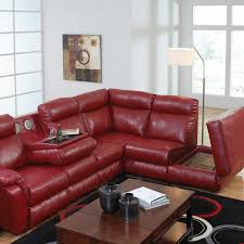 Red Sectional Sofas Red Leather Sectional Sofa With Recliners Revistapacheco Com