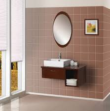 brilliant bathroom vanity mirrors decoration oval mirror on brown