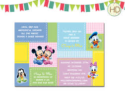 Mickey Mouse Invitation Cards Printable Disney Baby Shower Invitations Templates Disney Mickey Mouse Baby
