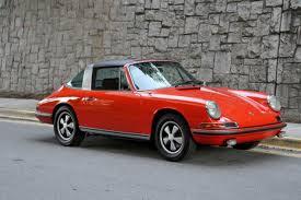 1968 porsche 911 targa for sale 1968 porsche 911s targa restored tangerine numbers matching