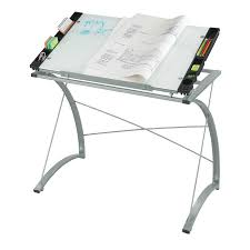Drafting Table Height by Xpressions Glass Top Drafting Table Safco Products