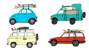 surf car clipart meet kevin butler the artist who draws rad cars with rad