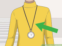 ladies pocket watch necklace images How to wear a pocket watch 14 steps with pictures wikihow jpg