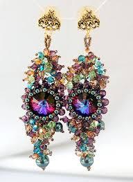 mardi gras earrings 1550 best beaded earrings images on bead earrings diy