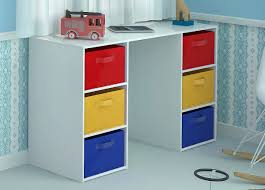 home source kids desk toy storage 6 canvas drawers for children s bedroom playroom co uk kitchen home