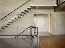 polyester stair tread with exposed concrete staircase industrial