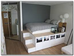 King Size Platform Bed With Storage Plans by Loft Bed With Stairs Plans Free Beds Home Furniture Design