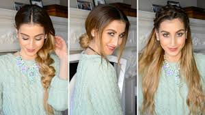 hairstyles to hide really greasy hair hairstyles for dirty hair youtube