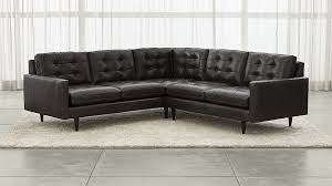 Sofa Sectional Leather Petrie Leather 2 Piece Corner Sectional Sofa Crate And Barrel