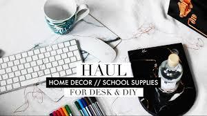 minimal marble home decor stationery haul 2017 youtube