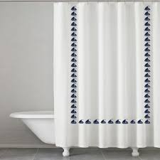 Sailboat Shower Curtains Buy Navy White Curtains From Bed Bath Beyond