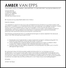 guidance counselor cover letter sample livecareer