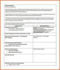 layout of an agenda tutornow info