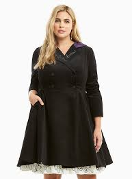 plus size nightmare before lace up back coat
