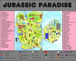 Jurassic World Map by Jp Expanded Jurassic Paradise By Teratophoneus On Deviantart