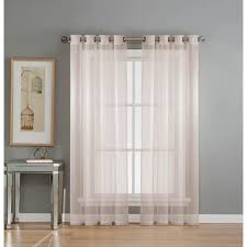 window elements sheer diamond sheer voile white grommet extra wide