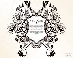 vintage heraldic shield with floral ornament vector set 1 vector