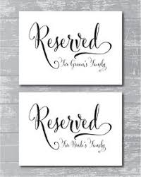 reserved signs for wedding tables printable reserved sign calligraphy wedding signs bride and groom