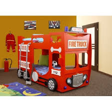 Double Decker Bunk Bed Fire Engine Furniture By Room Sena - Double bunk beds uk