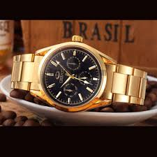 mens bracelet wrist watches images Chenxi 006b luxury full of gold men watches stainless steel quartz jpg