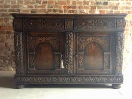 Antique Sideboard For Sale Antique Sideboard In Carved Oak 1850s For Sale At Pamono