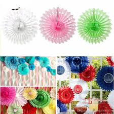 hanging paper fans 2017 20cm 30cm paper fans flowers pinwheels backdrop for party