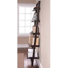 Leaning Ladder Bookshelves by Amazon Com Leaning Ladder 5 Shelf Bookcase Espresso Contemporary