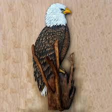 bald eagle sculpture art 28 inch wood carving eagle art