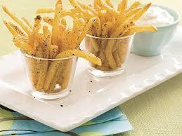 salt and pepper oven fries recipe myrecipes