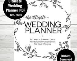 the ultimate wedding planner organizer wedding planner etsy