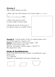 What Is The Sum Of Interior Angles Of A Octagon Slm Understanding Quadrilaterals Maths Topic