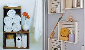 Storage For Towels In Bathroom Bathroom Recycled Crate Towel Storage Home Tweaks